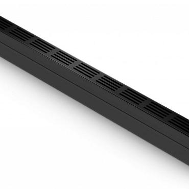 ACO Slim-Line zwart met designrooster
