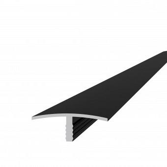 Aluminium overgangsprofiel 4,0 x 1,8 x 300 cm, antraciet.