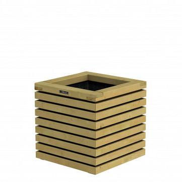 Bloembak Elan 50 Excellent, 50 x 50 x 50 cm, groen ge#mpregneerd.