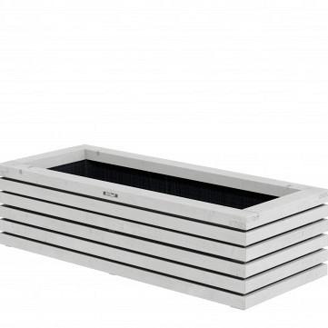 Bloembak Elan Excellent, 120 x 50 x 30 cm, wit.