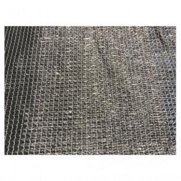 Harmonicadoek HDPE 290 x 400 cm, incl. bevestigingsmaterialen, antraciet.