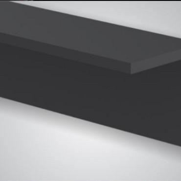 Comp. hoekprofiel Antraciet/Zwart 300cm