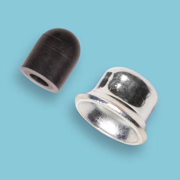 Aanslaghuis metaal en rubber zwart voor Freund 1954, 1912, 1914 en Freund 105-27.