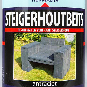 Hermadix Steigerhoutbeits Antraciet 0,75 Liter