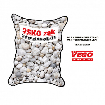 25 kg Wit grind 16-32 mm