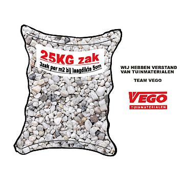 25 kg Wit grind 8-16 mm