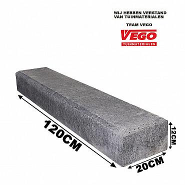 Schellevis Betonbiels Met Facet 100x20x12cm Carbon