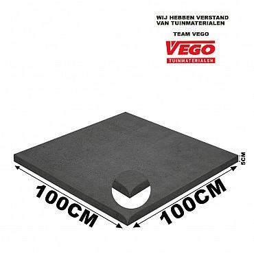 Schellevis Zwembadrand Hoek (100x100x5cm) Carbon