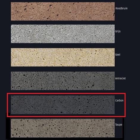 Schellevis Zitelement 200x60x40cm Carbon