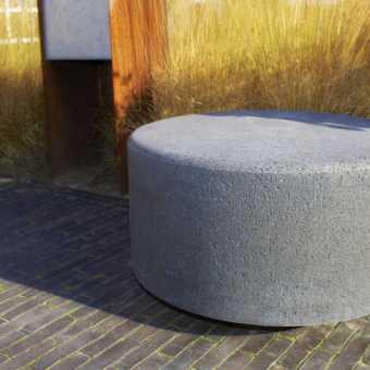 Schellevis Zitelement Rond Carbon 80x40cm