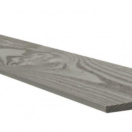 Douglas Zweeds rabat 1 zijde geschaafd, 1 zijde fijnbezaagd 1,1-2,7 x 19,5 x 300 cm, grijs gespoten.