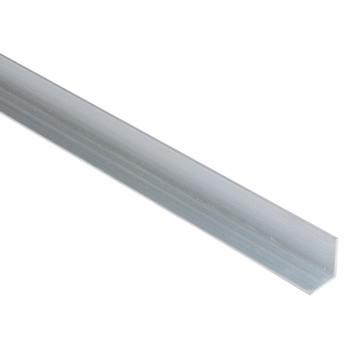 Aluminum hoekstrip/aanslaglat  tbv tuinpoort  200cm (zonder gaten)