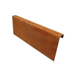 Betotop special Cortenstalen strip t.b.v. een opsluitband 6x20x100cm
