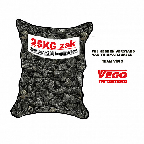 25 kg Graniet split grijs 16-32 mm
