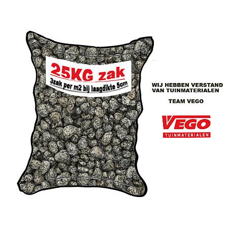 25 kg Tumbled Levanto zwart 16-25 mm