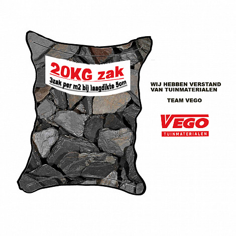 20 kg Black Slate Premium 30-90mm