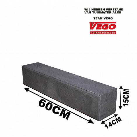 Linia Excellence 12x12x60 cm Nero met facet