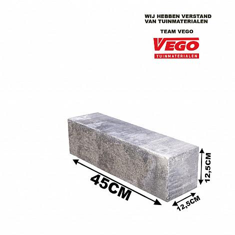 Classico Block Grijs/Zwart 45x12,5x12,5cm