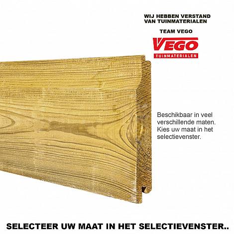 Midden-Europees grenen geschaafd rabat 1,8 x 14,5 x 300 cm, groen ge#mpregneerd.