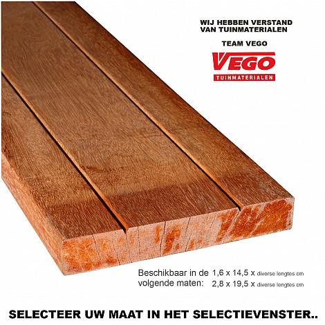 Bangkirai geschaafde planken 2,8x19,5x305cm