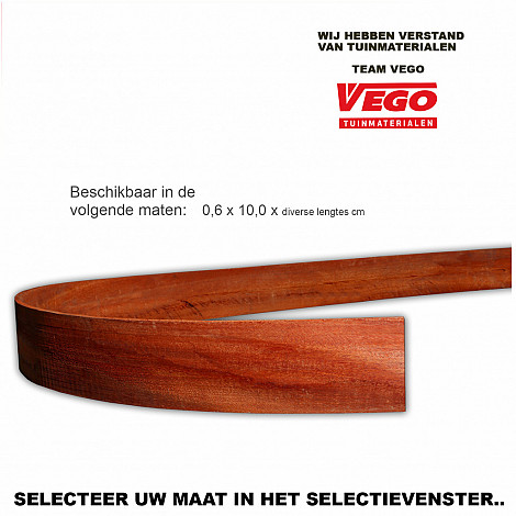 Hardhouten strip 0.6xx350