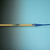 Hak  gesmeed  18 cm  De WIT, met steel 170 x 3,0 cm