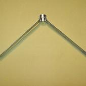 Stokhouder  45cm  breed 19 cm hoog,  voor steel 28 mm