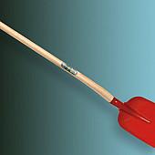 Betonschop ATLAS rood gelakt, gehard met ATLAS Schopsteel 110 cm ½ O