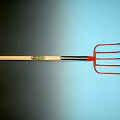 Mestvork OFFNER  5 tands met dubbele veren, met T-steel  90 cm