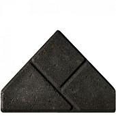 Bisschopsmuts BSS 8 cm KOMO zwart met deklaag