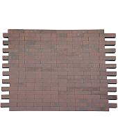 Facetto 20x5x6 Rood/Zwart