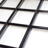 Zwart Draadscherm 180x180 / Maaswijdte  10 / Dikte 4mm /  Geplastificeerd