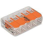 WAGO Verbindingsklem 5-Voudig  tbv flexible draad ( 25 stuks per doos )