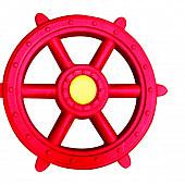 Piratenstuur kunststof, rood/geel.