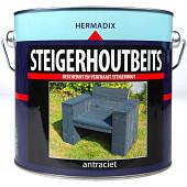 Hermadix Steigerhoutbeits Antraciet 2,5 Liter
