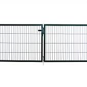 Dubbele poorten groen RAL 6005 (compleet)
