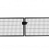 Dubbele poorten zwart RAL 9005 Eco-line (compleet)