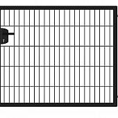 Enkele poorten zwart RAL 9005 eco-line (compleet)
