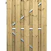 Tuinpoort grenen met stalen frame