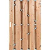 Tuinpoort douglas fijnbezaagd met stalen frame