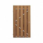 Tuinpoort hardhout met stalen frame