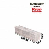 Decor Block Grijs/zwart 40x10x10cm