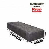 Schellevis Traptrede 100x40x20cm Carbon