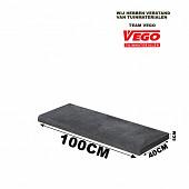 Schellevis Zwembadrand 100x40x5cm Carbon