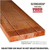 Hardhout geschaafde planken