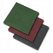 Rubberen Tegel 50x50x3cm Zwart