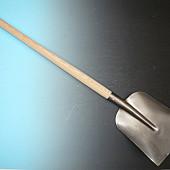 ACTIE Betonschop 1/2 0, gelakt met essen PE Import batsesteel 130 cm.