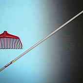 Bladharksteel 160 x 2,8 cm., punt 140/20 mm., voor Fiskars bladhark.