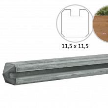Betonpalen grijs  met sleuf t.b.v Betowood schermen