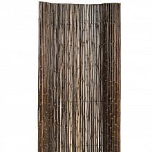 Bamboescherm op rol Zwart